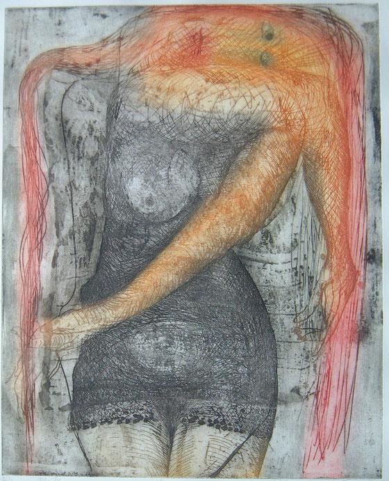 Ulrike 1976 (Radierung 61 x 49 cm)