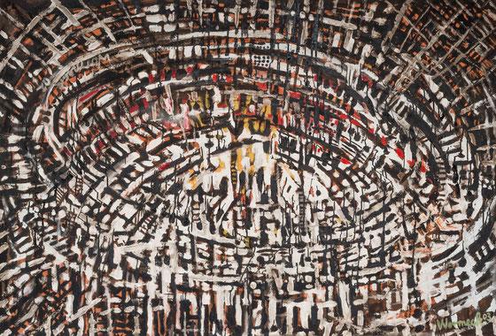 fußballstadionartig, 2003 (130 x 180 cm)