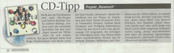 CD REVIEW on DOLOMITEN - Magazin