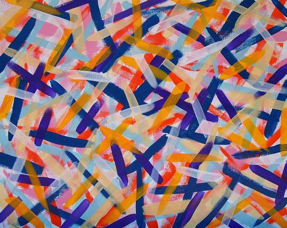 無題071013 アクリルガッシュ、キャンバス 72.7×91cm