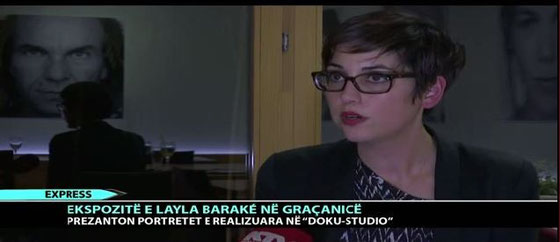 Report on KTV Express about the photo exhibition of Layla Barakè at Hotel Gracanica