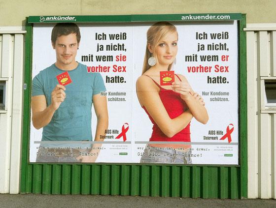 Plakat-Kampagne für AIDS-Hilfe Steiermark 2012