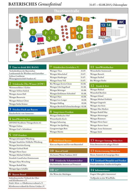 Plan mit allen Anbietern des 4.Bayerischen Genussfestivals