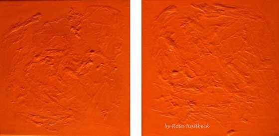 Acrylbild, acryl, collage, orange, bild, malen, malerei, kunst, geko, dekoration, wandbild, abstrakt