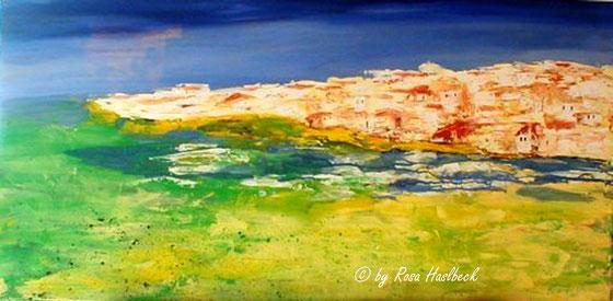 Acrylbild Insel 50 x 100 x 4 cm