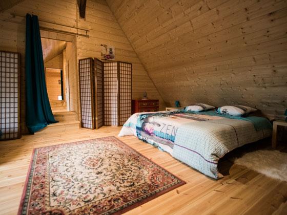 La chambre avec twin bed