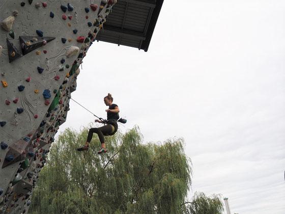 Weich stürzen beim klettern