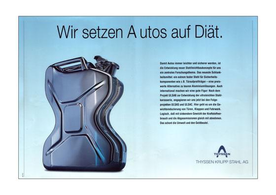 B2C-Anzeigenmotiv Automobil-Leichtbau