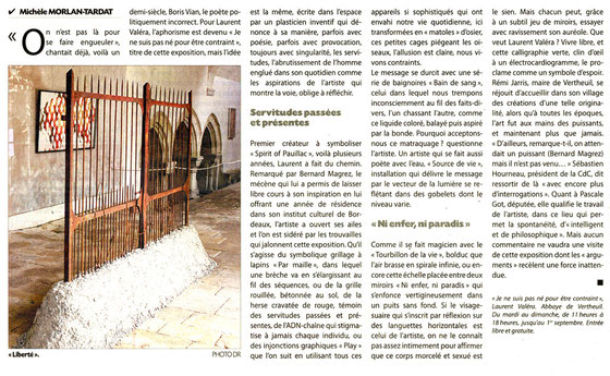 Journal du Médoc, Août 2013.