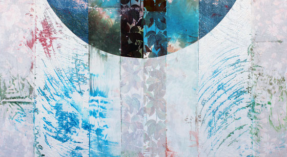 L'artiste bordelais Laurent Valera revient de sa résidence en Tanzanie avec des tissus : nouvelle série de peintures !