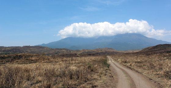 Parc National d'Arusha avec le mont Méru (4565m d'altitude) sous les nuages