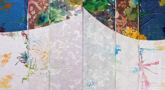 Sur un des chemins de l'eau, dim. 102 cm x  186 cm, 2017