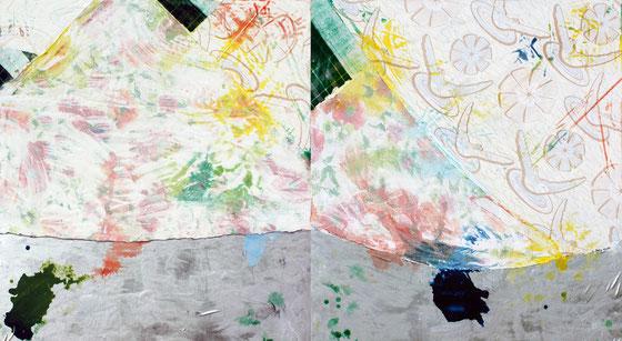 Ainsi naissent des peintures artistiques, magiques, où les coulissent s'invitent au premier plan