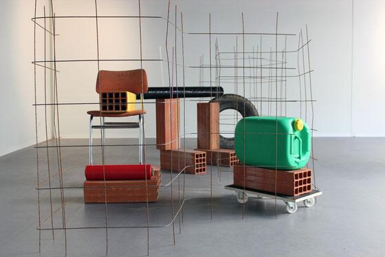 A l'équerre, sculpture, 2016