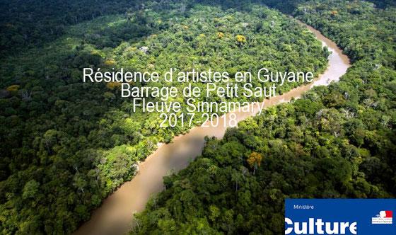 Projet artistique de l'artiste Laurent Valera sur le barrage de Petit Saut en Guyane Française. Art contemporain en Guyane avec la DAC Guyane.