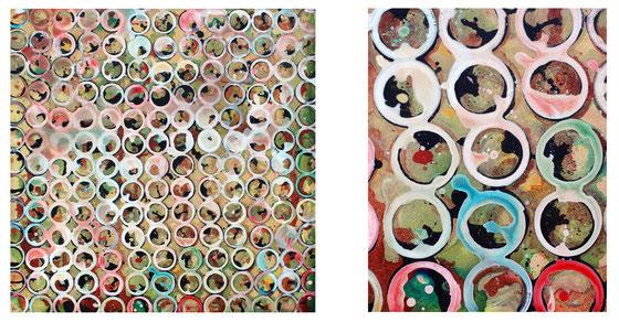 Traces de verres pour ces peintures de Laurent Valera