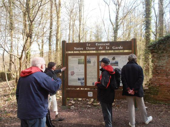 Rando Santé  - Forêt de hez -M.F.Lieutenat : Etang du fond . 24 mars 2014