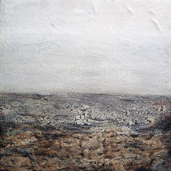 Amador Vallina: Vista, Mischtechnik auf Leinwand, 2004, 100 x 100 cm