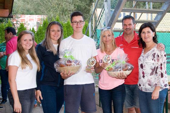 Die Finalisten bei der Siegerehrung mit Vzbgm. Maria Knauder und dem Obmann Walter Pagitz!