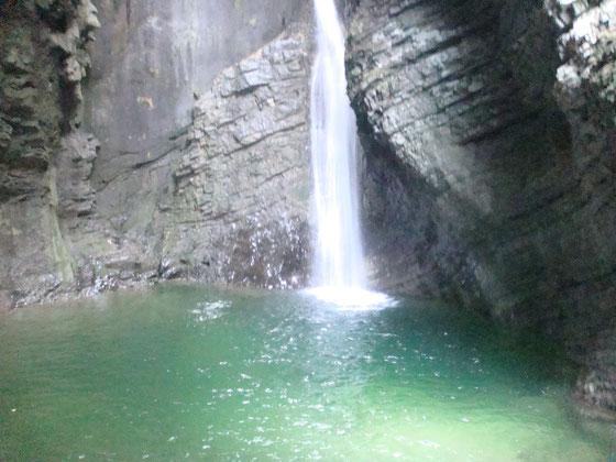 Wasserfall in Kobarid, nur zu Fuß erreichbar!