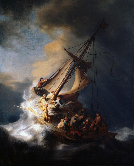 """Rembrandt, """"Tempesta nel mar di Galilea"""" (1633)"""