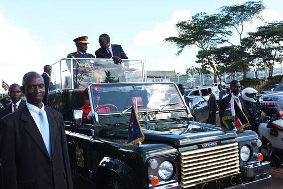 Presidential inauguration parado, the 4th President Mr.Uhuru Muigai Kenyatta. Kenya.