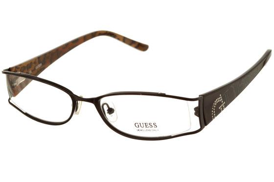 Occhiali da vista donna Guess 1517 BLK. Colore: nero. Forma: irregolare. Materiale: metallo.
