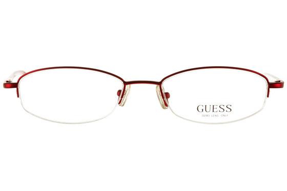 Occhiali da vista donna Guess 1431 RO. Colore: rosso. Forma: ovale. Materiale: metallo. Nylor.