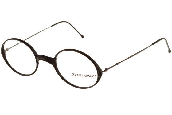 Occhiali da vista uomo Giorgio Armani 385 181. Colore: nero. Forma: tondeggiante. Materiale: plastica e metallo.