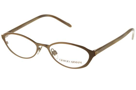 Occhiali da vista uomo Giorgio Armani 1078 1358. Colore: oro satinato. Forma: ovale. Materiale: metallo.