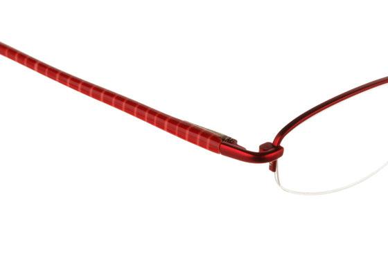 Occhiali da vista donna Guess 1431 RO. Colore: rosso. Forma: ovale. Materiale: metallo. Nylor