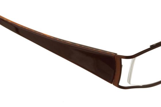 Occhiali da vista donna Guess 1404 BRN. Colore: Marrone. Forma: irregolare. Materiale: metallo.