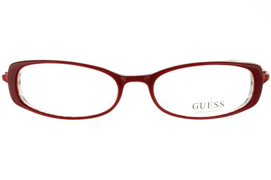 Occhiali da vista donna Guess 1316 RD. Colore: rosso. Forma: ovale. Materiale: plastica.