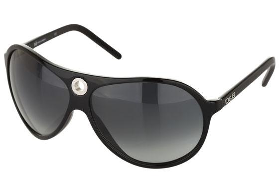 Occhiali da sole uomo Dolce & Gabbana Modello: 3018 Colore: 501/8G nero. Colore lenti: grigio sfumato. Calibro 64-11. Forma: pilot. Materiale: plastica. Protezione UV 100%