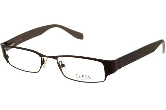 Occhiali da vista uomo Guess 1599 BLK. Colore: Nero. Forma: squadrato. Materiale: metallo.