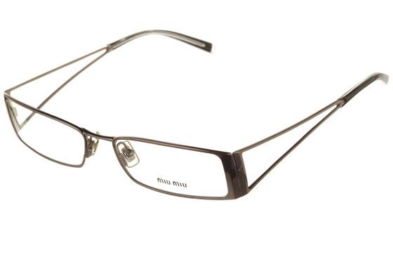 Occhiali da vista donna MiuMiu 50CV 5AV1O1. Colore: argento. Forma: squadrato. Materiale: metallo.