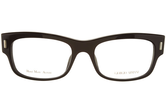 Occhiali da vista uomo Giorgio Armani 822 UUU. Colore: nero. Forma: squadrato. Materiale: plastica.