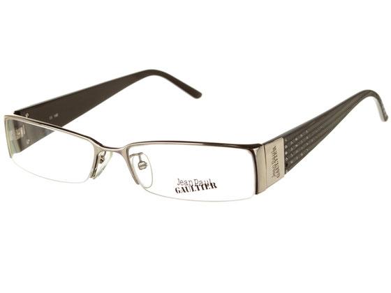 Occhiali da vista donna Jean Paul Gaultier 044 579S. Colore: Argento e nero. Materiale: metallo.