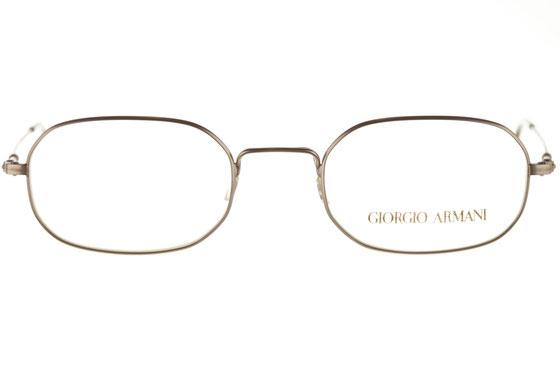 Occhiali da vista uomo Giorgio Armani 1005 815. Colore: canna di fucile. Forma: arrotondato. Materiale: metallo.