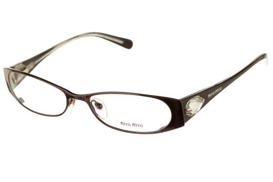 Occhiali da vista donna MiuMiu 55CV 5AV1O1. Colore: Nero. Forma: ovale. Materiale: metallo.