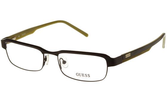 Occhiali da vista uomo Guess 1436 SBLK. Colore: Nero. Forma: rettangolare. Materiale: metallo.