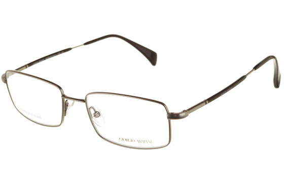 Occhiali da vista uomo Giorgio Armani 793 R81 RUTHEN S. Colore: argento. Forma: squadrato. Materiale: acciaio.