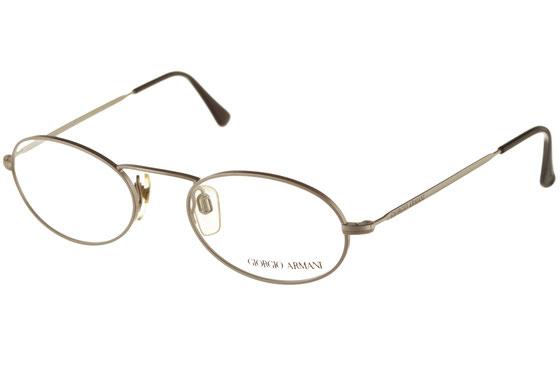Occhiali da vista uomo Giorgio Armani 125 707. Colore: argento satinato. Forma: tondeggiante. Materiale: metallo.