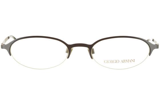 Occhiali da vista uomo Giorgio Armani 1079 1288. Colore: oro satinato. Forma: ovale. Materiale: metallo.