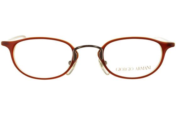 Occhiali da vista uomo Giorgio Armani 2008 326. Colore: rosso. Forma: ovale. Materiale: plastica.