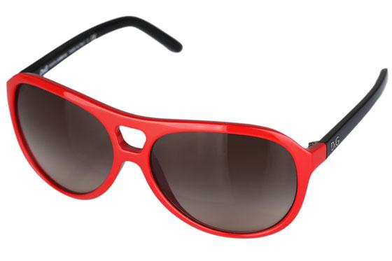 Occhiali da sole donna Dolce & Gabbana Modello: 8070 Colore: 159313 rosso. Colore lenti: marrone sfumato. Calibro 60-14. Forma: pilot. Materiale: plastica. Protezione UV 100%