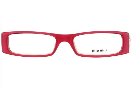 Occhiali da vista donna MiuMiu 07DV 7AQ1O1. Colore: Rosa. Forma: rettangolare. Materiale: plastica.