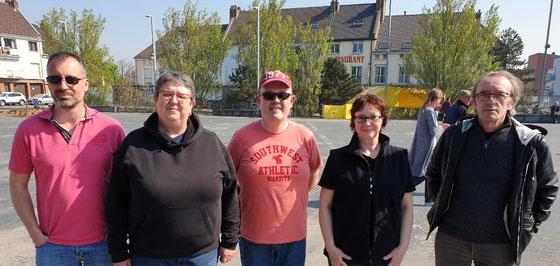 Les S'Crabes à Dunkerque : R. Quédru - N. Lédé - A. Hue - M-H Gandy - J-L Thirion