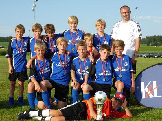 ..das Überraschungsteam beim K&L Fussball Cup 2012: JFG Kinsachkickers D1