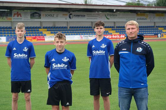 Jakob Schötz, Simon Bayerl, Leon Sagmeister, Christoph Wallner (von links nach rechts)